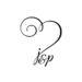 Hochzeitslogo mit Herz und Initialien J &P