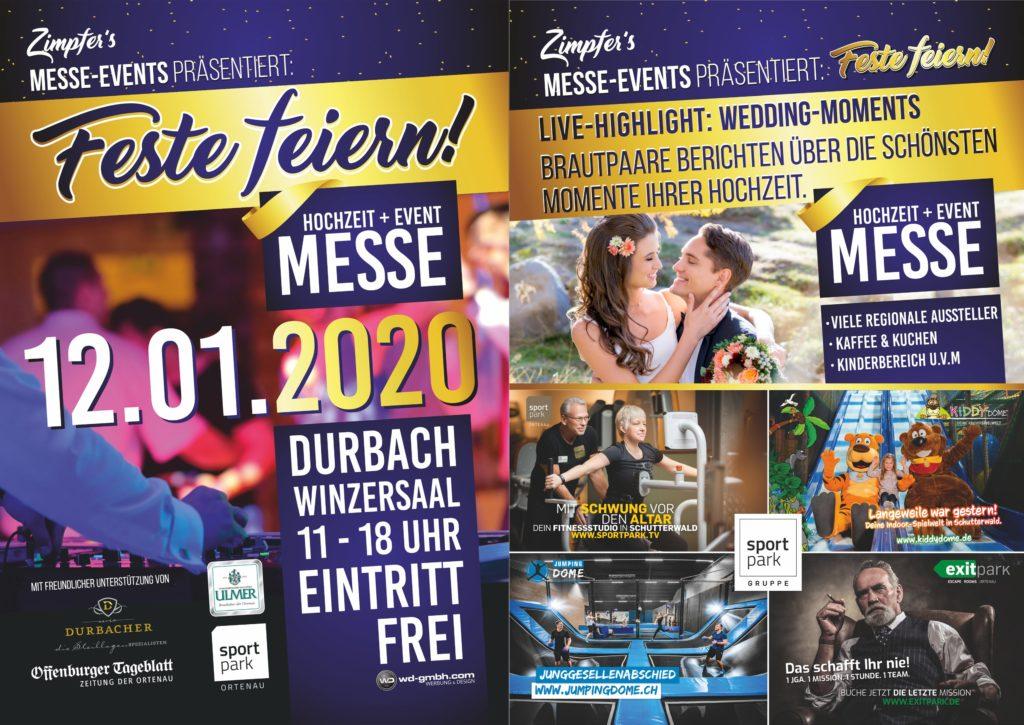 """Flyer """"Fest feiern"""" Hochzeits- und Eventmesse"""