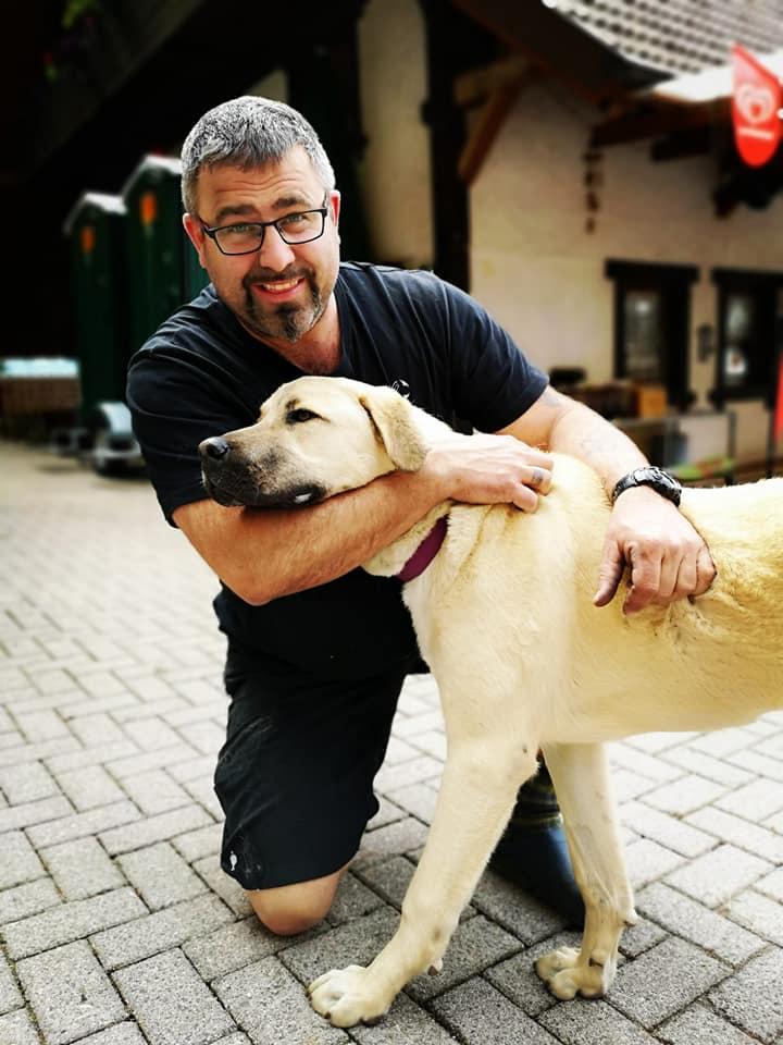 Michael Thoma mit Hund