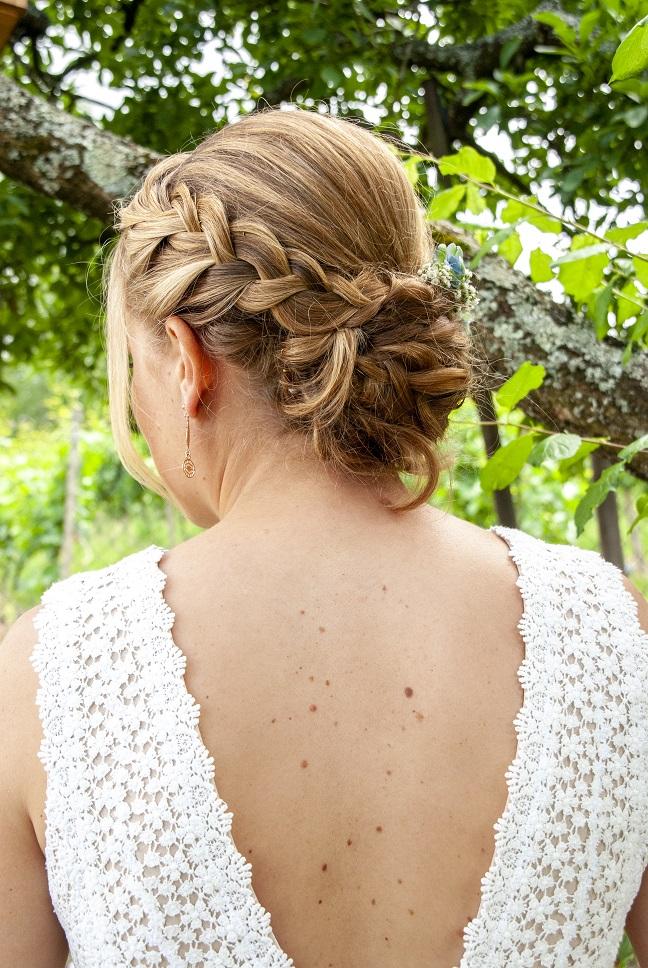 Rückenansicht Brautkleid