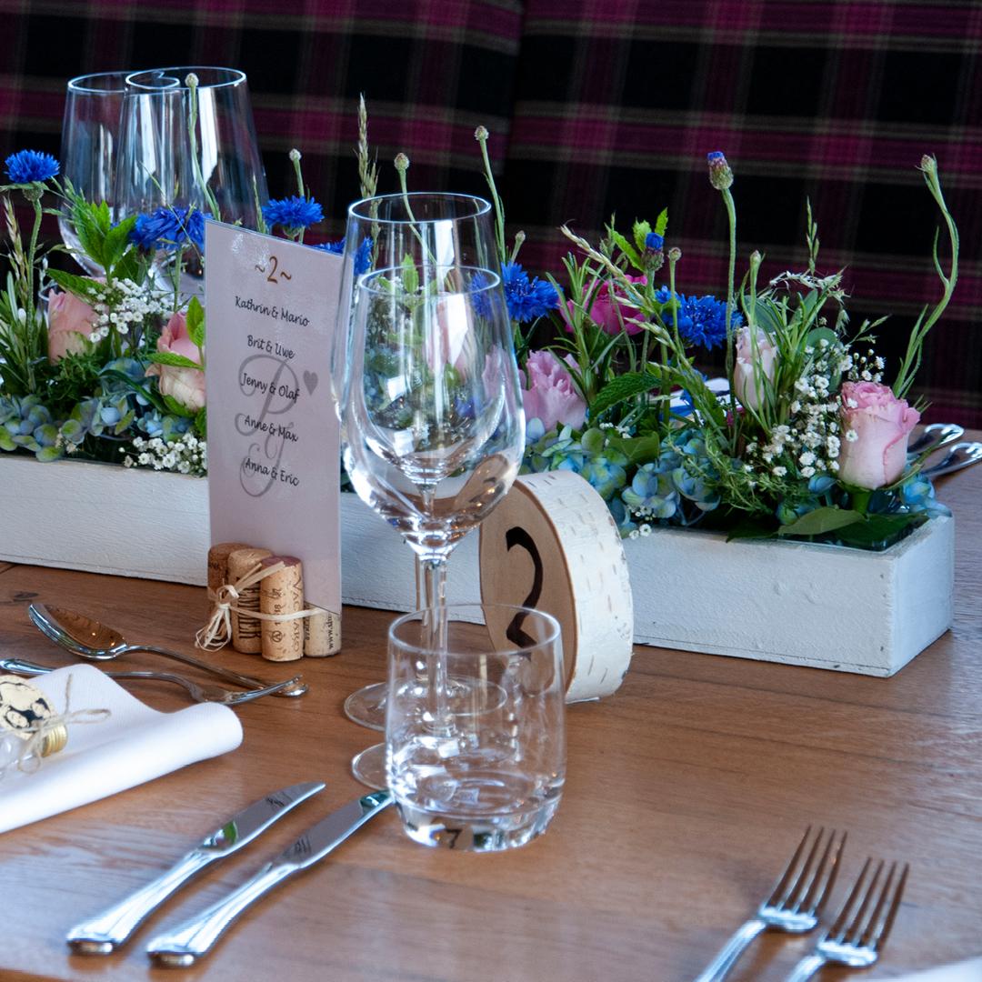 Tischdeko Hochzeitslocation