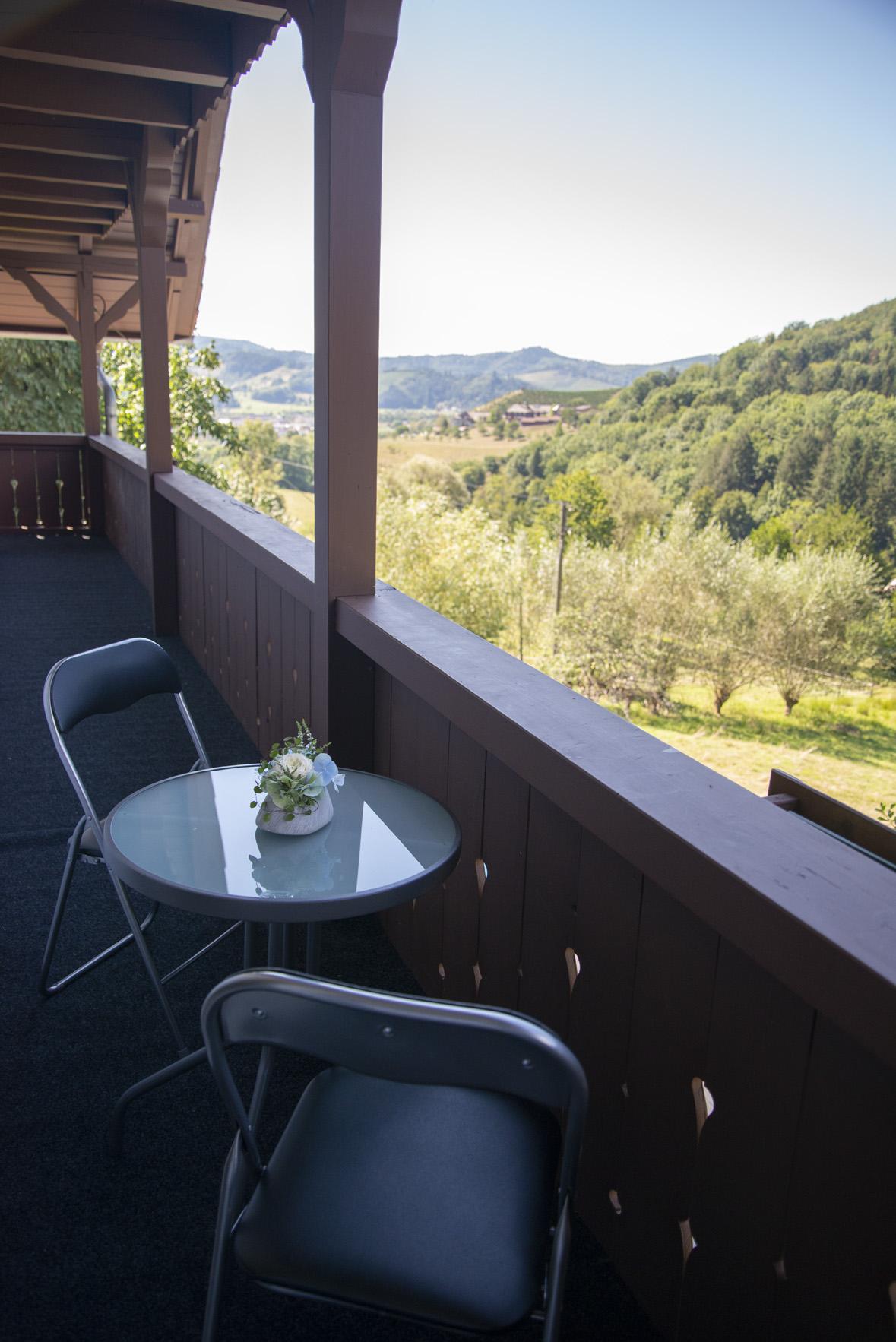Balkon mit Ausblick Ferienwohnung
