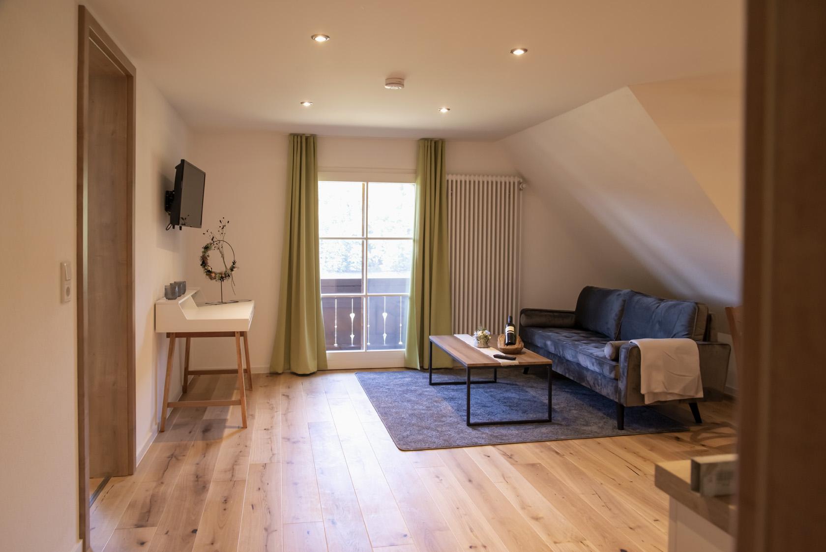 Wohnbereich Honeymoon-Suite